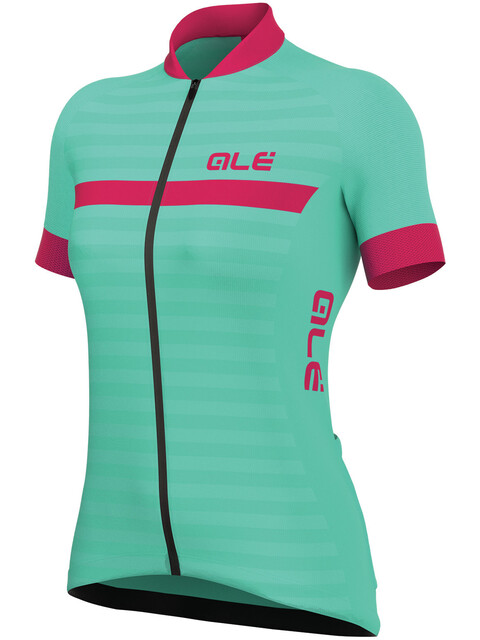Alé Cycling Solid Riviera Short Sleeve Jersey Women turquoise-fluo magenta